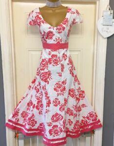 bnwt size 14 l stunning ladies per una cotton summer dress