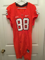 University of Virginia UVA Cavaliers Max Valles Football Game Worn Orange Jersey