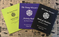3 Pc Set YOUNG WICCANS Book of Magic, Activity Book, Book of Shadows, WITCHCRAFT