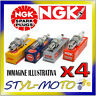 KIT 4 CANDELE NGK LZKAR7B RENAULT Twingo 2 1.2 55kW D4F 722/740/772 2007