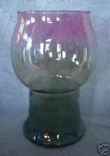Collectible Iridescent Blue/Gold/Teal/Pink Blown Glass Votive/Vase/Patio Light