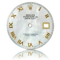 For Rolex Datejust 36mm White Mother Pearl Roman Numeral Dial for 16013 16233