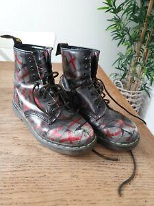 Dr martens boots  size 8 St George Flag Vintage Pre Owned the original rare