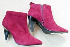 Autograph Soft Red Suede Boots - Size UK 7