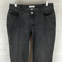 Christopher & Banks womens size 8 stretch gray mid rise mostly straight jeans