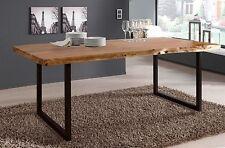 Esstisch Live Edge 6715-I, Wolf Möbel, Akazie massiv, Küchentisch, 160x90 cm