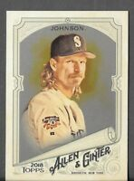 Randy Johnson 2018 Topps Allen & Ginter HOT BOX SILVER GLOSSY FOIL Mariners #113