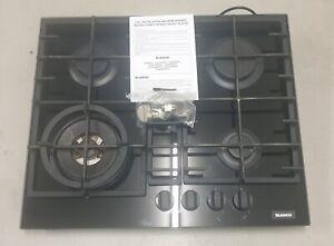 Blanco 60cm Black Glass gas 4 burner hotplate with Wok