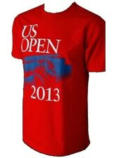 New Mens US Open 2013 Brush Stroke Tennis T-Shirt Red M Medium 100% Cotton