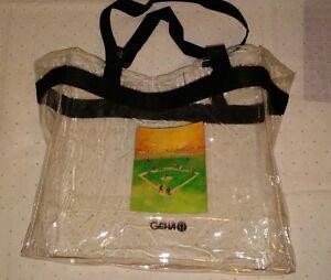geha clear tote bag purse stadium 12x12x6