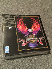 Harley-Davidson FX Schmid 500 Piece Puzzle NEW SEALED Eagle Motorcycles USA Flag