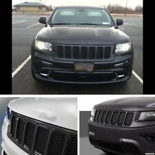 A Set of 7PCS Front Grille Trims For Jeep Grand Cherokee 2014-2016 2015 Black
