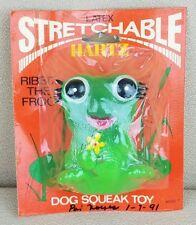 Vintage HARTZ Latex Dog Squeak Toy RIBBIT THE FROG NIP