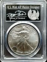 2017 SILVER AMERICAN EAGLE ~ PCGS MS-70 ~ 1 of 1000 SIGNED BY THOMAS CLEVELAND