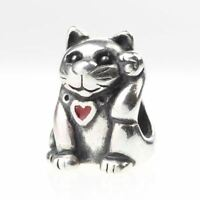 Beads Hunter Genuine .925 Sterling Silver Fortune Lucky Cat Charm