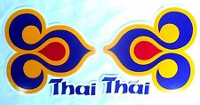 2 x XL AUFKLEBER Sticker THAI Airways Thailand aircraft Flugzeug je 17x16 cm