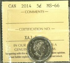 2014 Canada 5 Cents MS 66 #6115