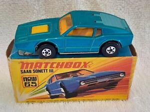 Matchbox Superfast no.65 Saab Sonnett III - Original VNMIB