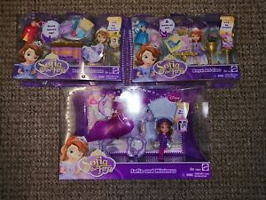 Sofia the First And Minimus Set of 3 New Boxed Toys
