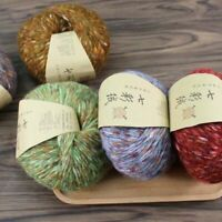 Colorful Alpaca Velvet Wool Cashmere Yarn Hand Knitting Crochet DIY Sweater