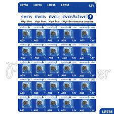 40 x everActive AG3 LR41 Alkaline batteries LR736 192 392 1.5V GREAT VALUE