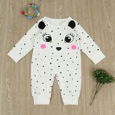 Newborn Infant Baby Boy Girl Bear Romper Jumpsuit Cotton Bodysuit Clothes Outfit