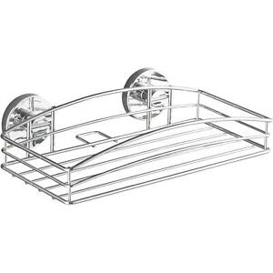 Wenko Vacuum-Loc Steel Wall Shelf, Fixing Without Drilling - Innovative Mounting