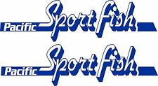 Pacific Sportfish Stickers 2 x 750 x 200  Quality Avery Material