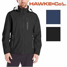 NWT HAWKE & CO. Men's BLACK Waterproof w/Detachable Hood Golf Jacket Size XXL