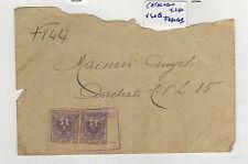 BUSTA CON N°2 MARCHE DA BOLLO 5 CENTESIMI 1921 13-84