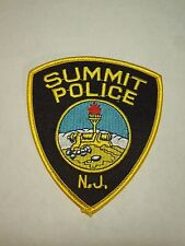 Summit Police New Jersey Shield Shape Iron On Patch- Canon Seal
