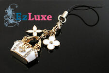 Korean monogram bag handbag Cell Phone Pendant Charm Kitson flower