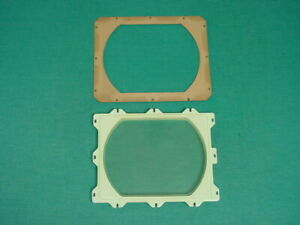"""Plastic Safety Mask for 1940's Admiral 20X11 or 20X12 10"""" Bakelite TV's"""