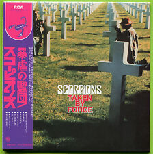 Scorpions TAKEN BY FORCE Japan mini LP CD w/OBI Strip / Rudolf Schenker