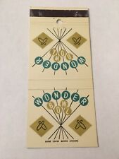 Vintage Matchbook Matchcover Wonder Bowl Bowling
