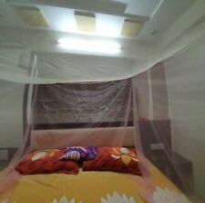 Dayaben Mosquito Net - Double Bed - Cream & Pink Color (4*6 Feet)