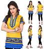 UK STOCK - Women Fashion Indian Short Kurti Tunic Kurta Top Shirt Dress 106C
