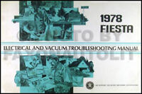 1978 Ford Fiesta Electrical and Vacuum Troubleshooting Manual 78 Original OEM