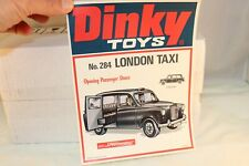 Dinky Toys Poster 100538 No. 284 London Taxi in very near mint condition SUPER