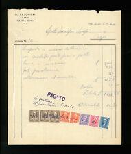 LETTERE COMMERCIALI G. BASCHIERI MARMI CARPI 1944
