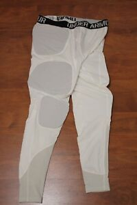 UNDER ARMOUR COMPRESSION PADDED BASKETBALL PANTS WHITE 1265065-100