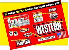 12 Western ULTRAMOUNT 2 Snow Plow Decal Replacement Blade kit 12 Piece WK-ULT-2