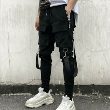Techwear Männer Big Pockets Casual Cargo Pants Mode Hip Hop Punk Harem Jogger