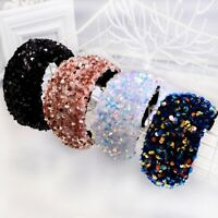 Women's Wide Knot Sequin Padded Headband Hairband Hair Band Band Hoop Headwrap