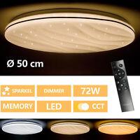 Rund 72W LED Deckenleuchte Wohnzimmer Flurleuchte Dimmbar Lampe