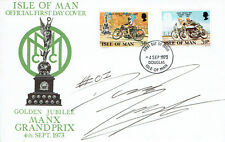 David KNIGHT Signed Autograph First Day Cover IOM TT FDC COA AFTAL Enduro Racer