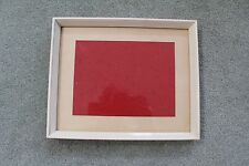 PICTURE FRAME: CREAM TIMBER PAINTED FRAME : 27cm X 22cm WALL / TABLE MODEL