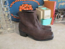 Vagabond ARIANA Leather Ankle Boots  Brown 39 Side Zipper NWOB SZ EU 39
