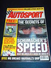 AUTOSPORT - SCHUMACHER'S SPEED - June 6 2002
