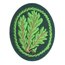 Jager leaves Emblem - WW2 Repro German Army Patch Badge Uniform Soldier Leaf New